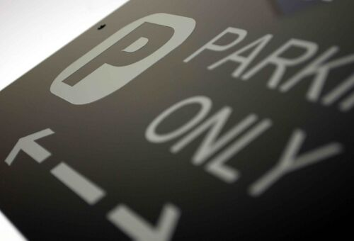 Cars and Signage Great Britain Asscher Design Freelander Parking Only Sign