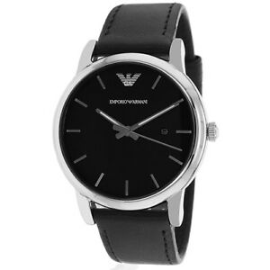 Armani-Men-039-s-Classic-50m-Quartz-Leather-Watch-AR1692