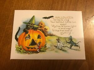 Retro-Halloween-Themed-Postcard-40-NEW-Pagan-Wicca-Gothic
