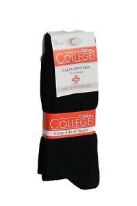 12 paia di calze sanitarie uomo in 100% cotone Filo di Scozia, Made in Italy