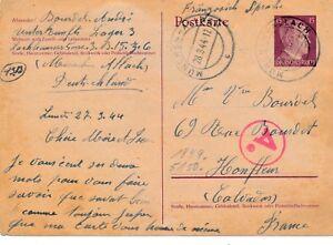 Carte-Munchen-Allach-Lager-Trait-de-censure-Camp-Krieg-War-WWII-Cover-Bief