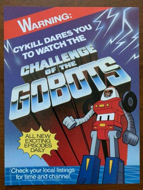 1985 Gobots Cykill Authentic Vintage Cartoon Print Ad/Poster 80s Pop Art Decor