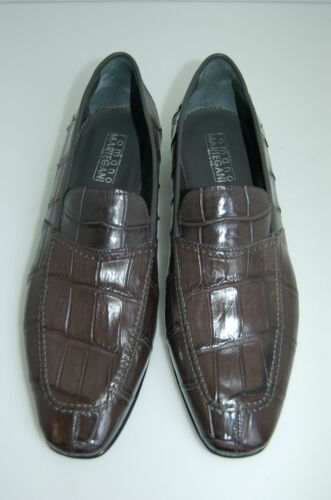 Alligatore Mocassin genuine 42 Sole Grey vero Leather Eu Alligator 8 Man SxBq8tT8
