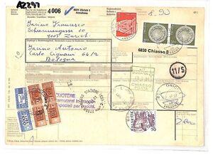 Az297 1981 Suisse Valeurs élevées Zurich * Assurés Mail * Carte De L'italie Pts Aussi Efficacement Qu'Une FéE