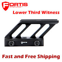 Fortis F1 Optics Mount Lower Third Witness Aimpoint Micro H1 T1 T2 Red Dot Sight
