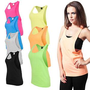 Urban-Classics-Ladies-Loose-Tank-Top-Sommer-Shirt-Sport-Fitness-Damen-neon