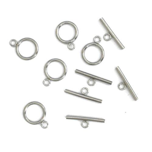 5 mordaza Toggle cierres de acero inoxidable 18+25mm perlas nenad-Design an151