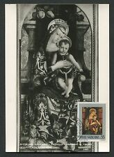 VATICAN MK 1971 GEMÄLDE MADONNA JESUS ART MAXIMUMKARTE MAXIMUM CARD MC CM c9252