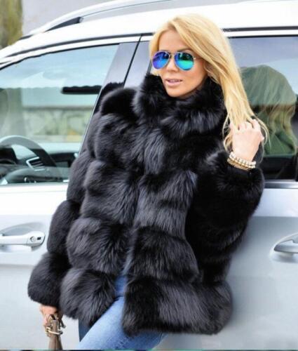 hiver épaissir en vestes chaudes tissu de occasionnels manteau courtes renard Fourrure épais femmes UwftxqfA