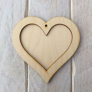 wooden hearts for crafts wooden hearts shape frame plaque craft blank shape 5772