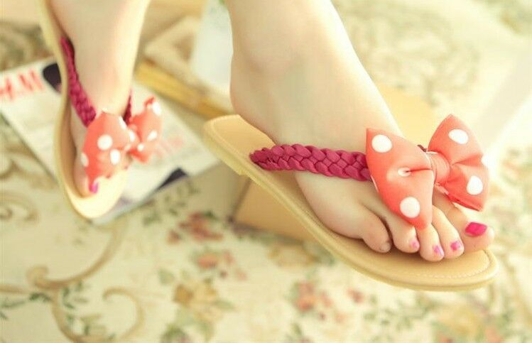 Eleganti ciabatte sandali infradito red fiocco  tacco 1,2 cm  cod 8319