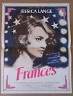 "AFFICHE CINEMA : ""Frances"" avec Jessica Lange 1982"