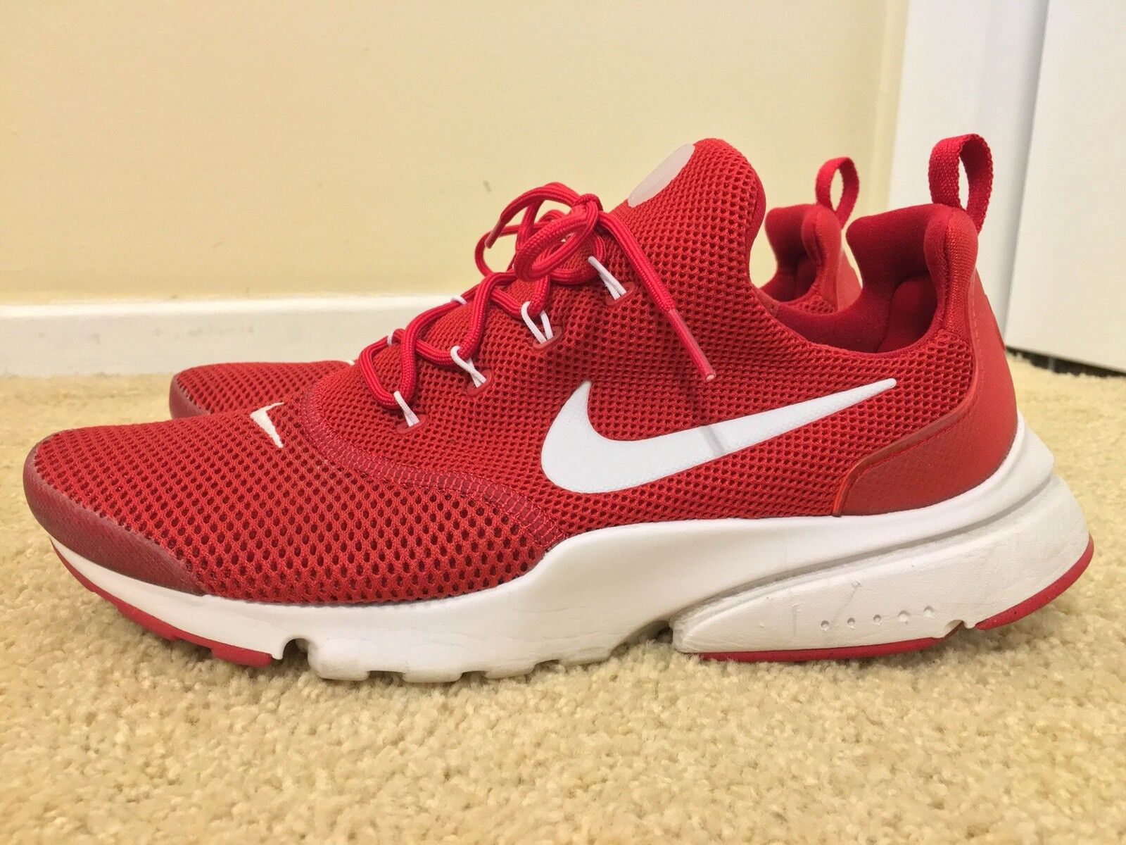 a3e06e004a Nike Air Presto Fly, 908019-600, Gym Red White, Men's Running shoes ...