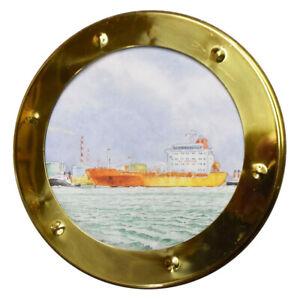 Modèle de bateau Laiton Hublot preglazed diamètre 14 mm sans bride Pack de 10
