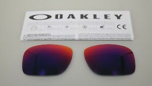 NEW-Oakley-HOLBROOK-POSITIVE-RED-IRIDIUM-OO9102-Replacement-Lens-Authentic