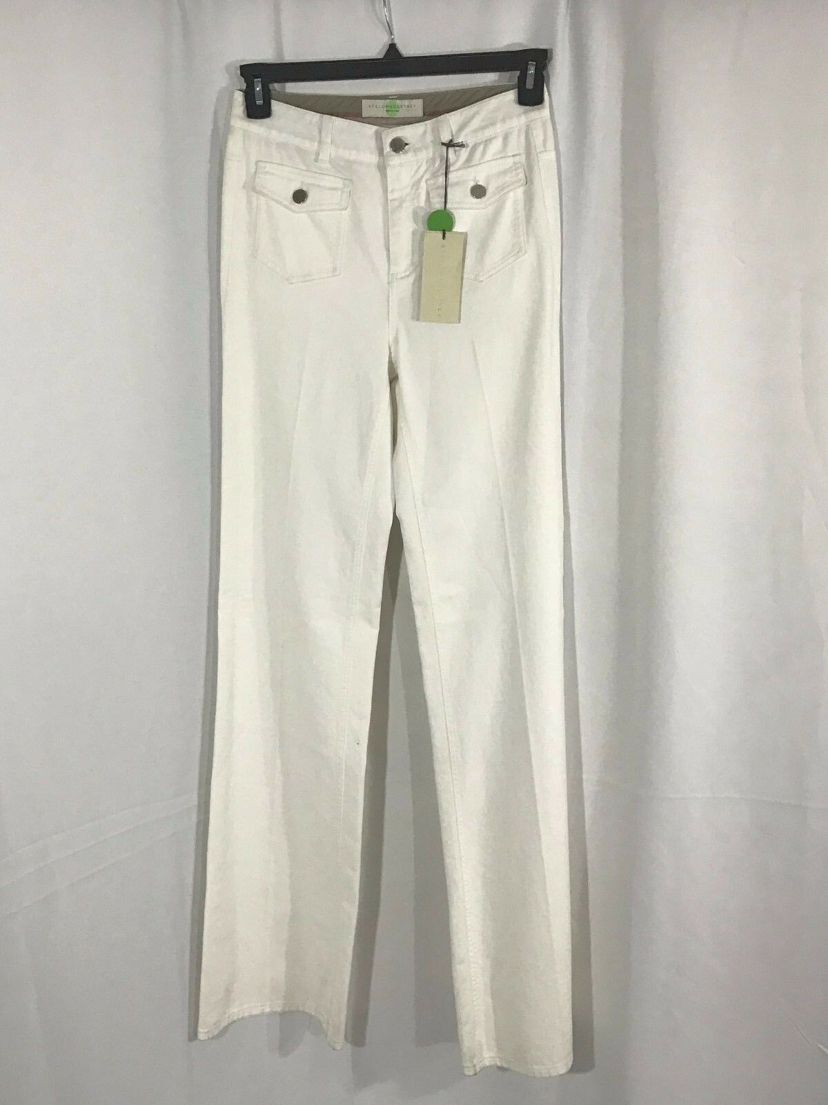Stella McCartney Weiß Cotton Blend damen Pants 28W X 36L NWT
