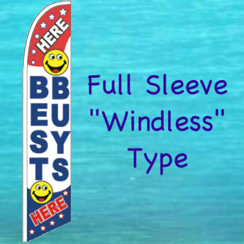 BEST BUYS HERE WINDLESS FEATHER FLAG Swooper Flutter Bow Banner Advertising Sign
