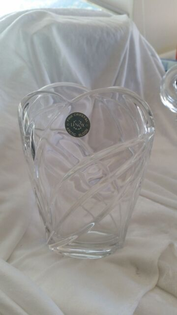 Lenox Crystal Vase With Swirl Pattern Arctic Bloom Collection Ebay