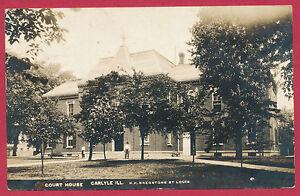 Court-House-Carlyle-Clinton-County-Illinois-IL-Ill-RPPC-postcard