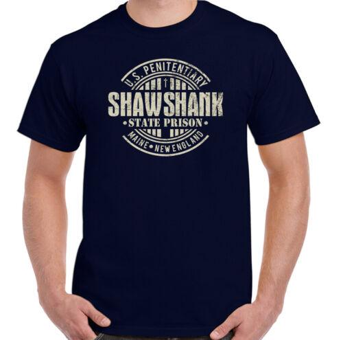 Shawshank Redemption T-Shirt Mens Retro Movie 90s Film Stephen King Prison Top