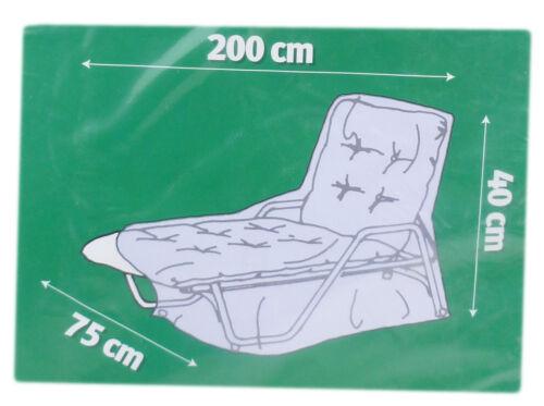 CMI Housse de protection pour chaise longue l200cm b75cm h40cm transat transat jardin chaise longue 225104