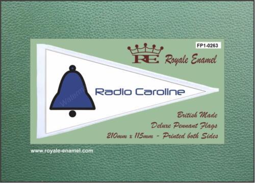 FP1.0263 RADIO CAROLINE BELL PIRATE RADIO Royale Antenna Pennant Flag
