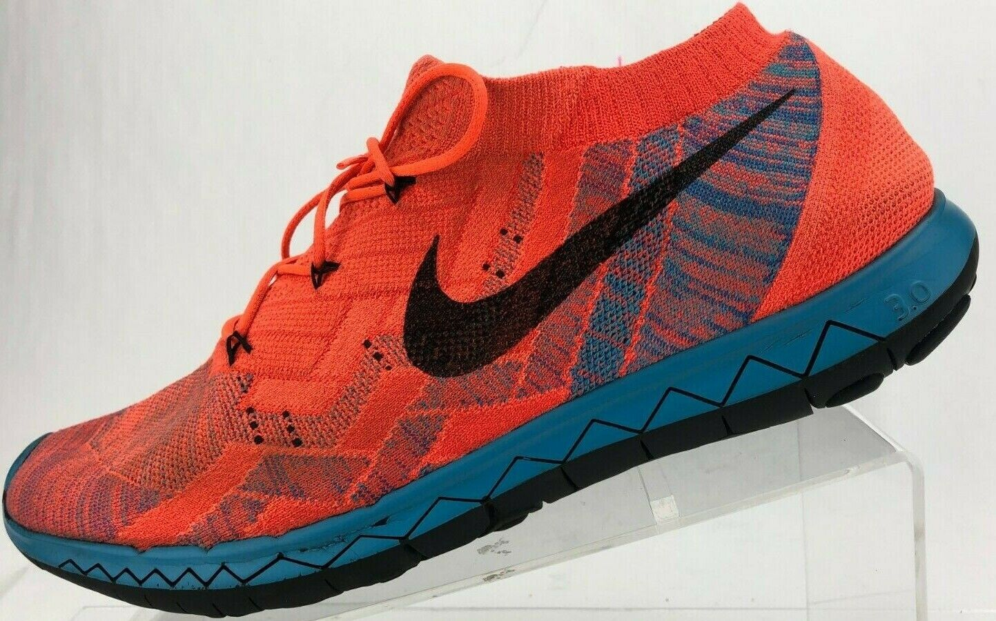 Nike 3.0 Flyknit Running shoes orange bluee Training Athletic Sneakers Mens 12.5