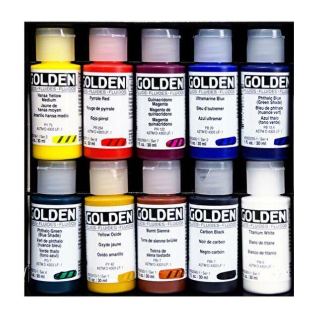 Golden Professional Fluid Acrylic Box Set - (10 x 30ml)