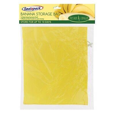Sealapack Banana Fresh Fridge Storage Bag Prevents Over Ripening Reusable New