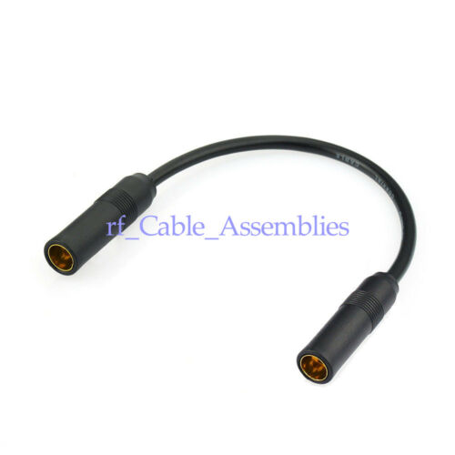 DIN Female to Female Aerial Sockets Antenna Adapter Cable for FM AM Car Radio