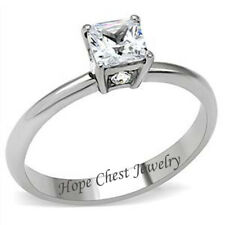 HCJ 2 CT WOMEN/'S STAINLESS STEEL TENSION SETTING AAA CZ ENGAGEMENT RING SZ 5-10