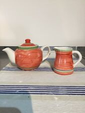 Dudson Artisan Aztec Small Teapot And Milk Jug
