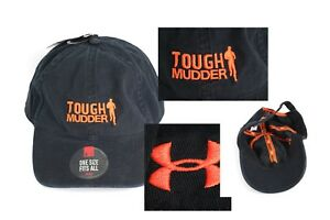Men s Black Tough Mudder Under Armour One Size Fits All Baseball Cap ... a398fa00c1f4