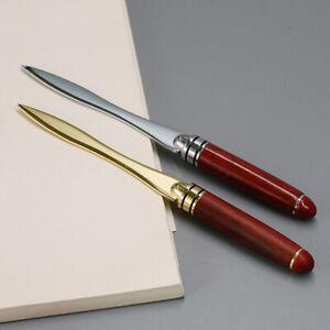 Wood-Handle-Letter-Opener-Stainless-Steel-cut-paper-Knife-Split-file-envelopPTJ