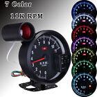 """5.1"""" Adjustable 7 Color LED 11K RPM Tachometer Gauge Rev Counter & Shift Light"""