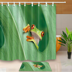 Image Is Loading Tree Frog Shower Curtain Bathroom Decor Waterproof Fabric