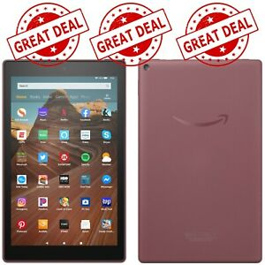 NEW Latest Amazon Fire HD 10 (9th Generation) 64GB, Wi-Fi,10.1'' Plum - FREESHIP