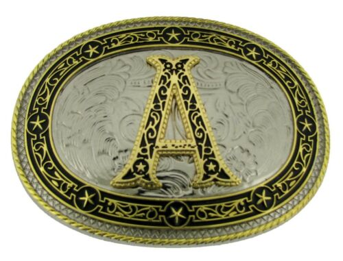 Initial A Letter A Belt Buckles Alphabet A Monogram A Men Cowboy Western Cowgirl