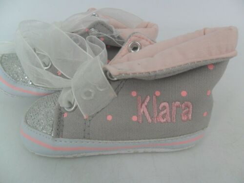178dd42a0506 2 sur 6 My 1st Yeats Personalised Glitter High Top Trainers 0-6 Months  JS087 NN 12