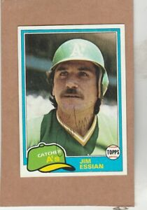1981 Topps # 178 Jim Essian  - Autographed card