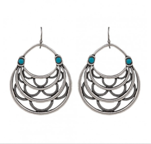 Montana-Silversmith-Layered-Loop-Earrings-Turquoise-Stone-HSS-Hook-ER2353TQR47