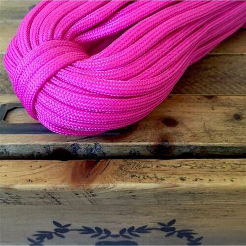 Corde cordage maison paracorde home nylon 4mm bijoux bracelet fushia DIY