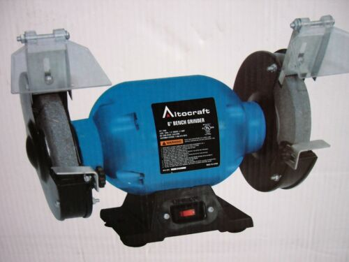 """New 6/"""" Bench Grinder Benchtop Top Mount Cast Iron Base 2.1 Amps"""