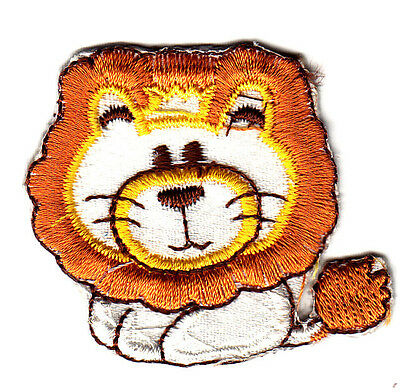 Animals Lion Baby Iron On Embroidered Patch Zoo Children Babies
