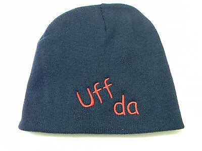 Scandinavian Norwegian Uff Da Baseball Hat Cap Embroidered Red Cotton #CP1RED