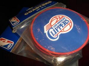 1 - 4 Pack Vinyl Drink Coasters - Los Angeles Clippers - LA NBA Basketball