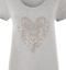 Plus-Size-Ladies-Short-Sleeve-Leopard-Print-Stud-Heart-Long-T-Shirt-Casual-Top thumbnail 14