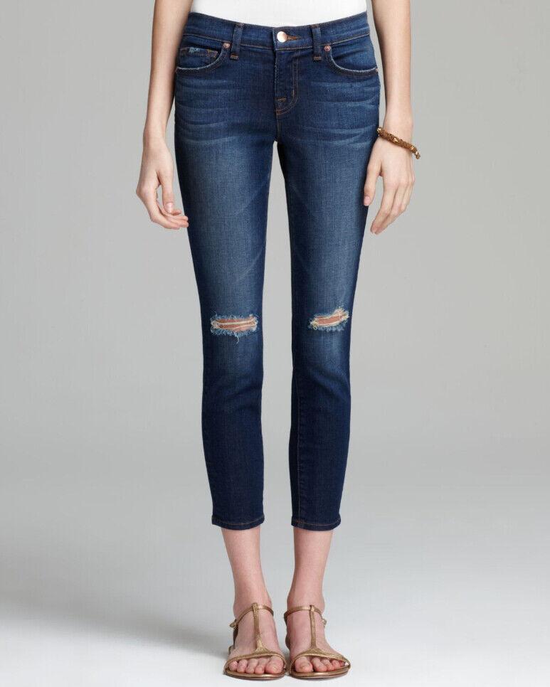 J BRAND Womens Mimi 835C006 Capri Jeans Skinny Alta bluee Size 25