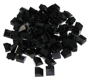 Lego Lot of 100 New Black Slopes 45 2 x 2 Sloped Pieces Bricks