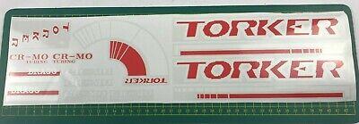 old school bmx decals stickers 1988 torker bragg full set for black frame